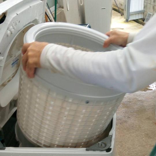 沖縄 リサイクルショップ 洗濯機、徹底洗浄しています!